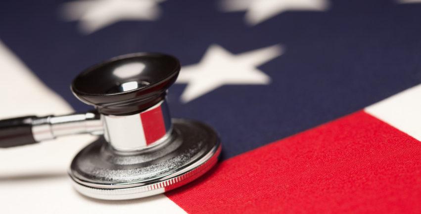 Stethoscope on American Flag